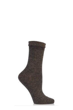 Ladies 1 Pair Falke Resplendence Plain Marled Bamboo Socks 25% OFF