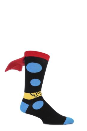 Mens 1 Pair SockShop Marvel Thor Cape Cotton Socks