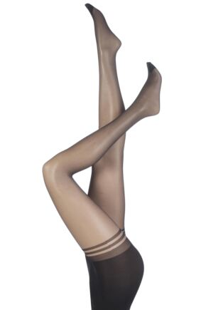 Ladies 1 Pair Pretty Polly Nylons 10 Denier Glossy Secret Slimmer Tights
