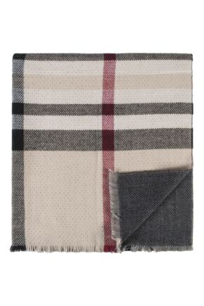 Ladies Fraas Cashmink Large Check 92 x 200cm Shawl Wrap
