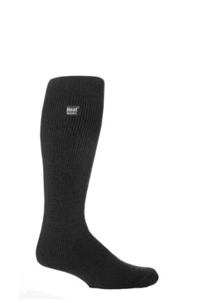 Mens 1 Pair SOCKSHOP Long Heat Holders Thermal Socks Charcoal L 6-11