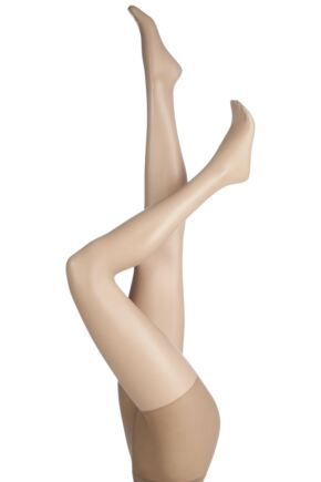 Ladies 1 Pair Charnos 7 Denier Simply Bare Moisturising Tights