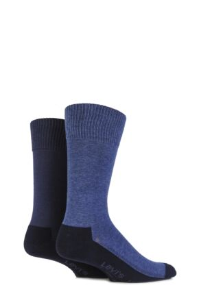 Mens 2 Pair Levis 168LS Plain Cushioned Crew Socks