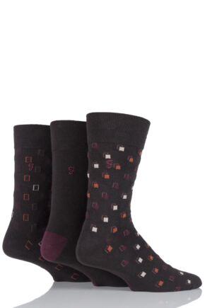 Mens 3 Pair Farah Classic Luxury Square Cotton Socks In 4 Colours