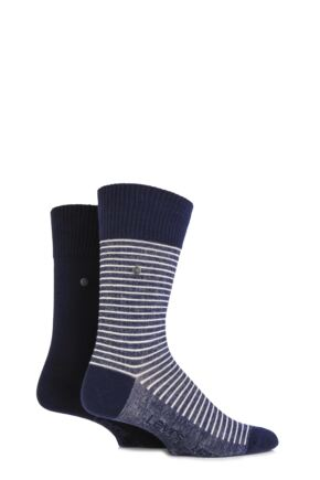Mens 2 Pair Levis 168SF Comfort Top Fine Striped Cotton Socks