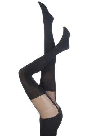 Ladies 1 Pair Pretty Polly Suspend your Disbelief Suspender Shaper Tights
