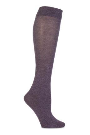 Ladies 1 Pair Jonathan Aston Sparkle Knee Highs Lilac