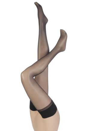 Ladies 1 Pair Charnos 15 Denier Sheer Lustre Hold Ups