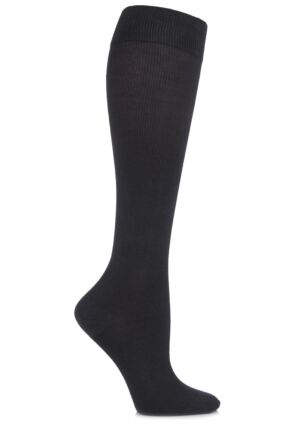 Ladies 1 Pair HJ Hall Flysafe Cotton Flight and Travel Socks Grey 3-6