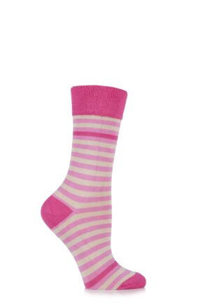Ladies 1 Pair HJ Hall Heligan Striped Bamboo Socks 25% OFF Candy 4-7 Ladies