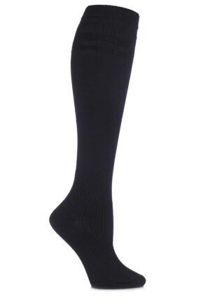 Ladies 1 Pair HJ Hall Energisox Compression Socks with Softop Black 3-6