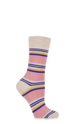 Ladies 1 Pair HJ Hall Fistral Striped Bamboo Socks 33% OFF