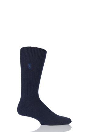 Mens 1 Pair Pringle of Scotland 85% Cashmere Ribbed Socks
