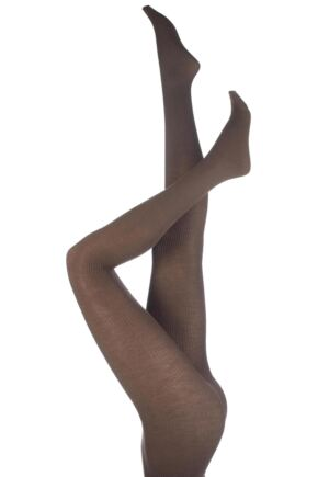 Ladies 1 Pair Trasparenze Dora Rib Wool Tights