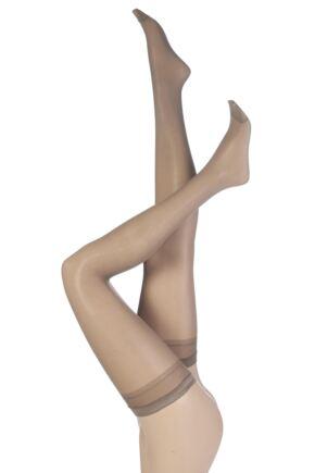Ladies 1 Pair Pretty Polly 30 Denier 100% Nylon Smooth Semi Sheer Stockings
