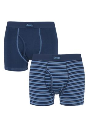 Mens 2 Pack Jeep Core Fine Stripe Trunks