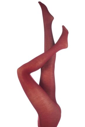 Ladies 1 Pair Trasparenze Jennifer Merino Wool Tights Wine Red Maxi