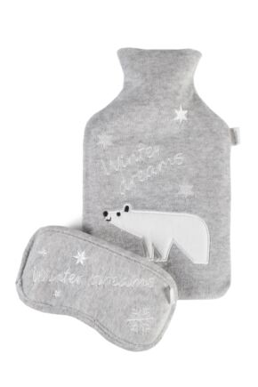 Ladies Totes Eye Mask and Water Bottle Cover Gift Set Winter Dreams One Size