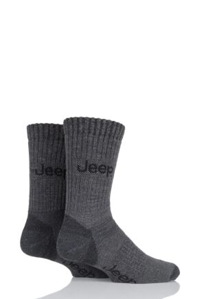Mens 2 Pair Jeep Medium Weight Thermo Cool Terrain Socks