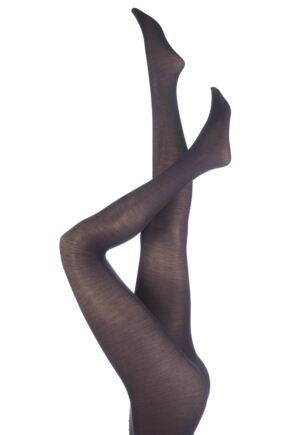Ladies 1 Pair Trasparenze Jennifer Merino Wool Tights Purple Medium