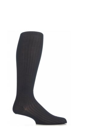 Mens 1 Pair Pantherella Merino Wool Rib Knee High Socks