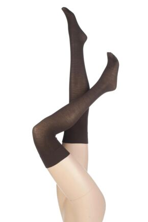 Ladies 1 Pair Levante Plain 100 Denier Wool Stockings