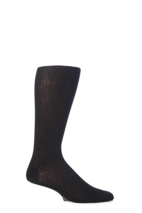Mens 1 Pair Viyella Knee High Mercerised Cotton Socks With Hand Linked Toe
