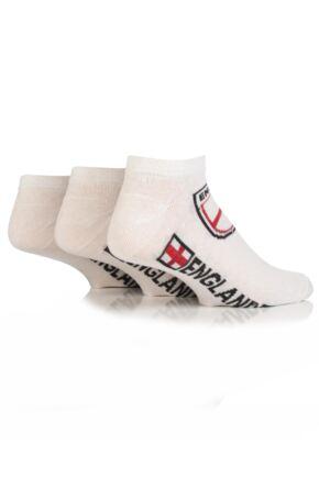 Mens 3 Pair England Trainer Socks