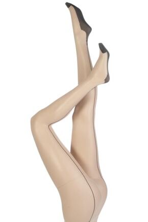 Ladies 1 Pair Jonathan Aston Contrast Seam And Heel Tights