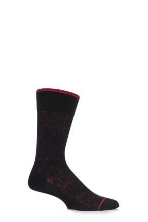Mens 1 Pair Falke Paisley Virgin Wool Socks