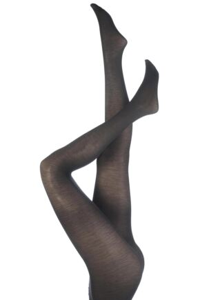Ladies 1 Pair Trasparenze Jennifer Merino Wool Tights Dark Grey Large