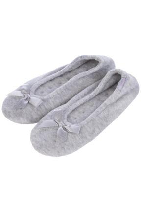 Ladies 1 Pair Isotoner Terry Ballet Slippers 33% OFF Grey S