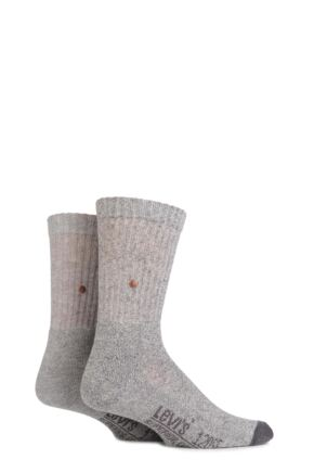 Mens 2 Pair Levis 120SF Classic Rib Cushioned Socks