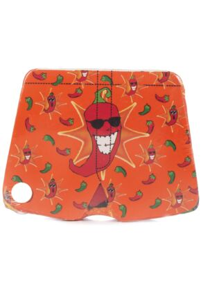 Mens 1 Pair Magic Boxer Shorts In Chilli Pattern Chilli XL