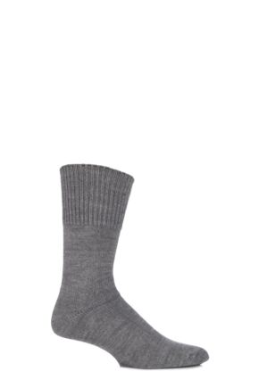 Mens 1 Pair HJ Hall Health Range Bed Socks Charcoal 6-11