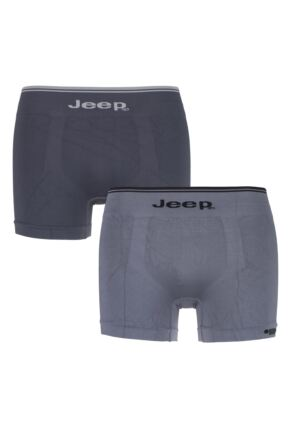 Mens 2 Pack Jeep Fitted Seamless Trunks Charcoal / Grey Small