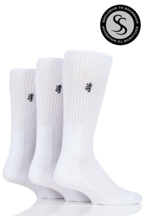 Mens 3 Pair Pringle Bamboo Cushioned Sports Socks Exclusive To SockShop