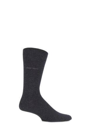 Mens 1 Pair Hugo Boss Marc Plain 98% Combed Cotton Socks