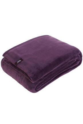 SockShop Heat Holders Snuggle Up Thermal Blanket In Mulled Wine Mulled Wine