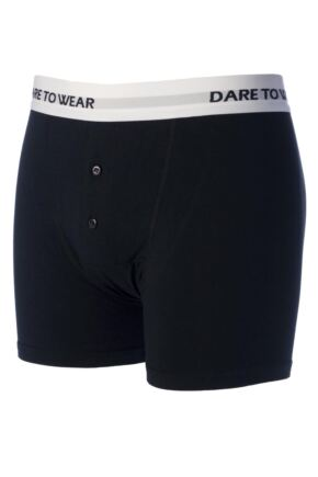 Mens 1 Pack SockShop Dare to Wear Bamboo Button Front Boxer Trunks