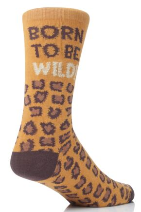 Mens 1 Pair SockShop Dare To Wear Born To Be Wild Socks