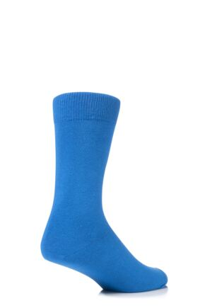 Mens 1 Pair SockShop Colours Single Cotton Rich Socks