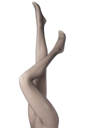 Ladies 1 Pair Jonathan Aston Back Seam Fishnet Tights