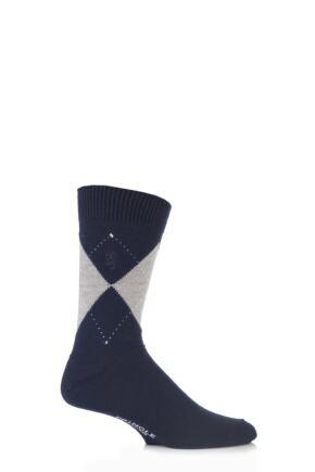 Mens 1 Pair Pringle of Scotland 80% Cashmere Argyle Pattern Socks