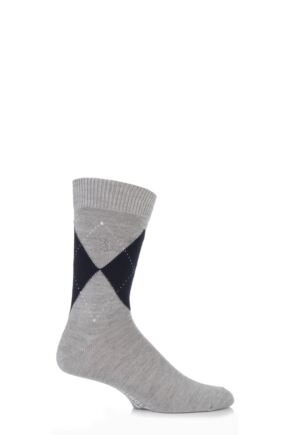 Mens 1 Pair Pringle of Scotland 80% Cashmere Argyle Pattern Socks
