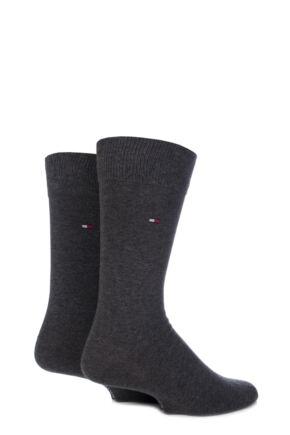 Mens 2 Pair Tommy Hilfiger Classic Plain Cotton Socks