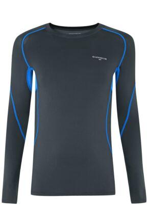 Mens 1 Pack Glenmuir Long Sleeved Compression Base Layer T-Shirt Grey M