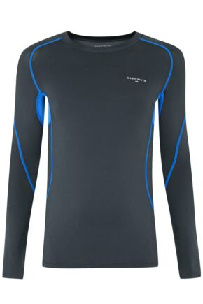 Mens 1 Pack Glenmuir Long Sleeved Compression Base Layer T-Shirt