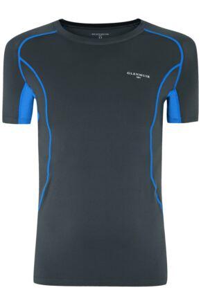 Mens 1 Pack Glenmuir Short Sleeved Compression Base Layer T-Shirt Grey S