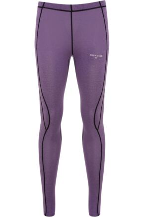 Ladies 1 Pack Glenmuir Compression Base Layer Leggings Purple 12-14 Ladies